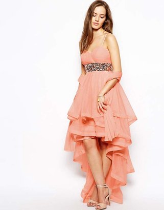Forever Unique Stacie Bandeau Dress with Ruffle Skirt