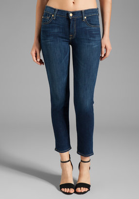 7 For All Mankind Crop Slim Cigarette