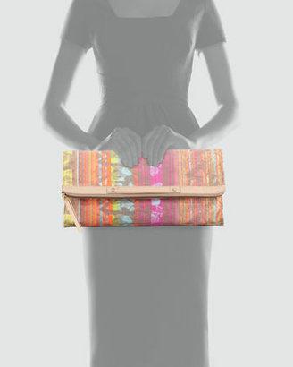 Cynthia Vincent Neon Jacquard Banker's Clutch Bag (Stylist Pick!)