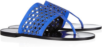 Pierre Hardy Cutout suede sandals