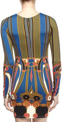 Julie Brown JB by Morgan Long-Sleeve Jersey Dress