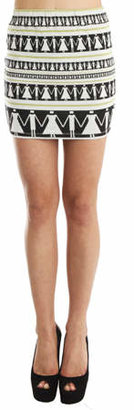 Suno Elastic Waist Mini Skirt