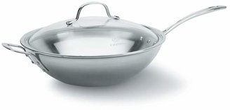 """Calphalon Tri-Ply Stainless 12"""" Covered Stir Fry Pan"""