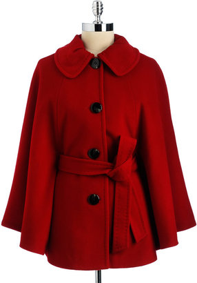 Ellen Tracy Belted Cape Coat