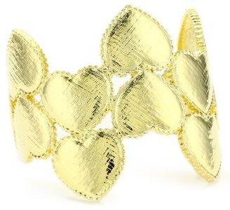 Tuleste Market Heart Gold Cuff Bracelet