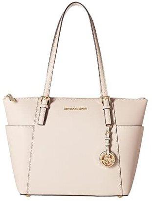 MICHAEL Michael Kors Jet Set Saffiano Top-Zip Tote (Soft Pink) Tote Handbags