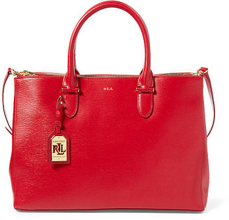 Ralph Lauren Newbury Double-Zip Satchel $298 thestylecure.com