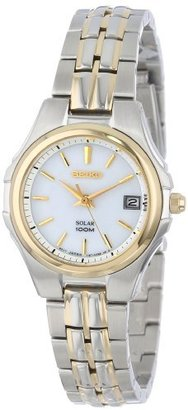 Seiko Women's SUT038 Two-Tone Stainless Steel Solar Watch $265 thestylecure.com