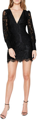 Bardot Anika V-Neck Mini Lace Dress
