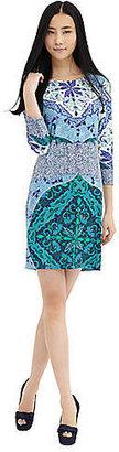 Ali Ro Three-Quarter Sleeve Printed Shift Dress