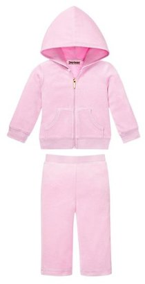 Juicy Couture Monogram Tracksuit in Pink Velour