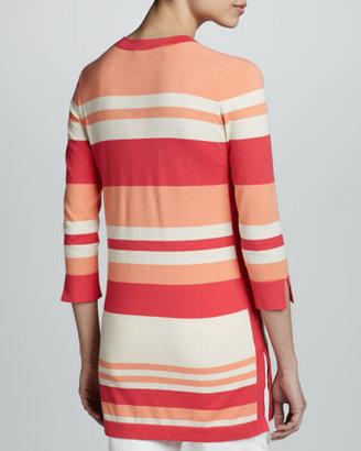 Magaschoni Striped V-Neck Tunic