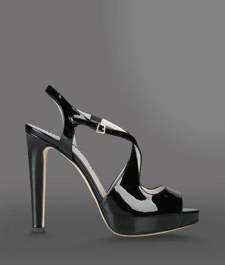 Emporio Armani Open Toe Sandal With Crossover Straps