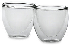 Bodum Thermo-Glass Pavina Double Wall Thermal 2-Ounce Shot Glasses (Set of 2)