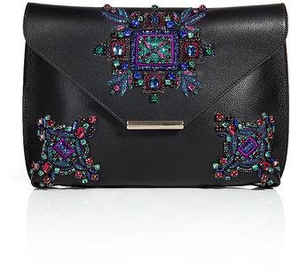Emilio Pucci Embellished Leather Newton Envelope Clutch