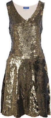 Gryphon Sequined chiffon dress