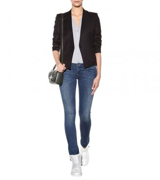 Helmut Lang Jersey and washed-crepe top