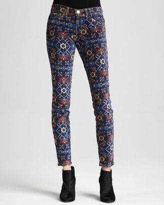 Current/Elliott The Ankle Printed Skinny Jeans