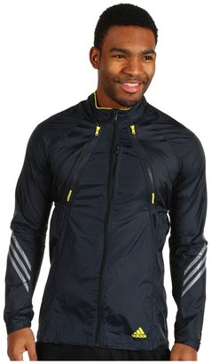 adidas supernova Convertible Jacket (Tech Onix/Vivid Yellow) - Apparel