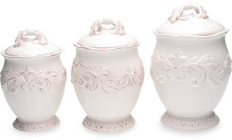 Bed Bath & Beyond Certified International Firenze 3-Piece Canister Set - Ivory