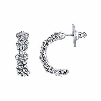 1928 Jewelry 1928 Bridal Amore Floral Arc Half-Hoop Earrings
