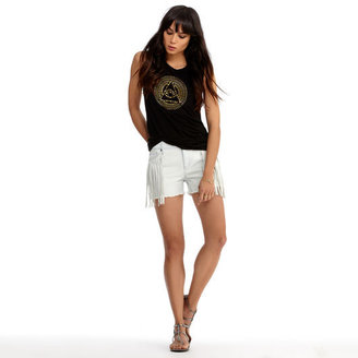 Rachel Roy Denim Fringe Short