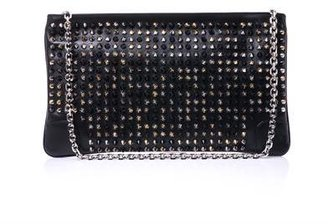 Christian Louboutin Loubiposh leather clutch