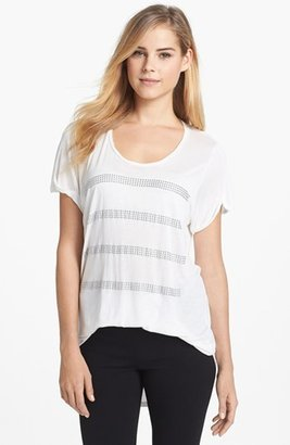 Vince Camuto Two by Heat Set Stud Stripe Tee