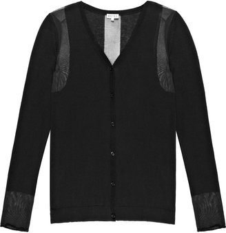 Reiss Mesa SHEER PANEL CARDIGAN