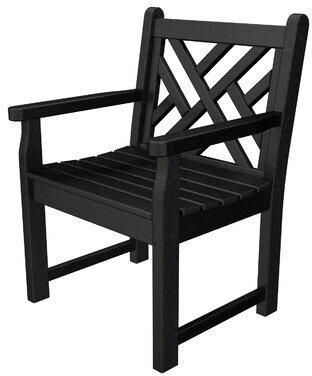 Polywoodâ® Chippendale Garden Arm Chair POLYWOODA Color: White