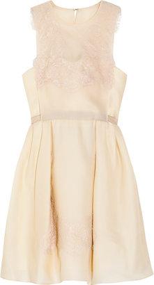 Carven Lace and silk organza-twill dress