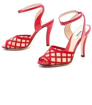 Moschino Mesh Vamp Sandals