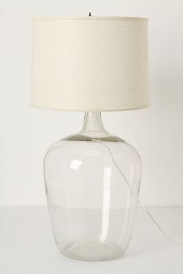 Anthropologie Found Decanter Lamp Ensemble