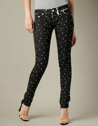 True Religion WOMENS PRINT STELLA JEANS - Skinny Fit (Black)