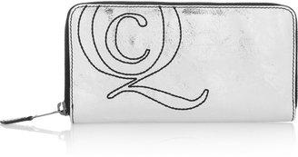 Alexander McQueen Metallic leather wallet
