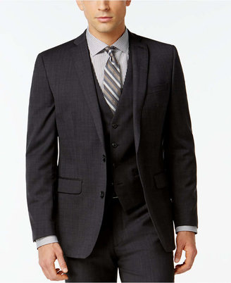 Bar III Dark Charcoal Slim-Fit Jacket $425 thestylecure.com