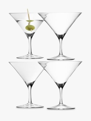 LSA International Bar Collection Martini Glasses, Set of 4, 180ml, Clear
