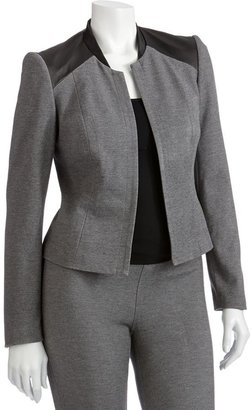 Sharagano faux-leather trim jacket - women's