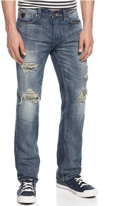 GUESS Jeans, Lincoln Slim Straight-Leg Distressed