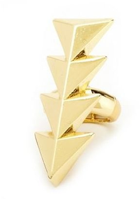 Charlotte Russe Triangle Stretch Armor Ring