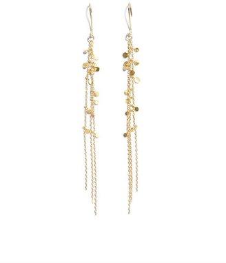 SIA Taylor Yellow-gold Random Dots earrings