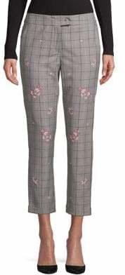 Marella Windowpane Cropped Pants