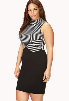 Forever 21 FOREVER 21+ Blurred Lines Bodycon Dress