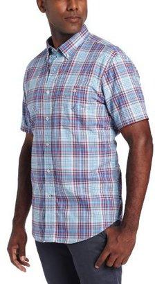 Nautica Men's Short Sleeve Large Plaid Shirt