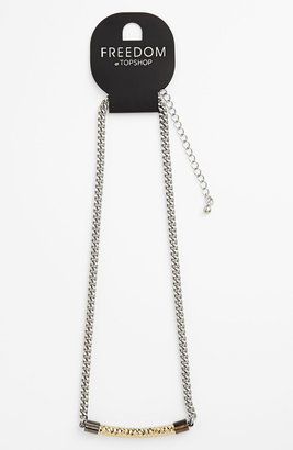 Topshop Curved Pendant Necklace