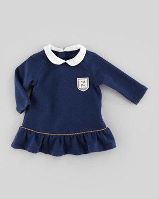 Fendi Baby Girls' Jersey Ruffle Dress, Navy, 3-9 Months