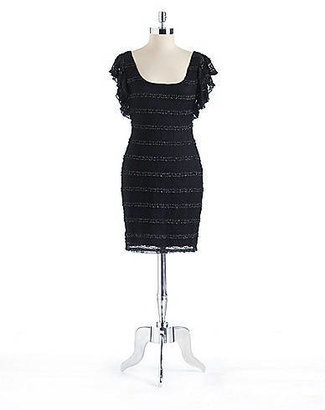 GUESS Lace Tiered Ruffle Dress