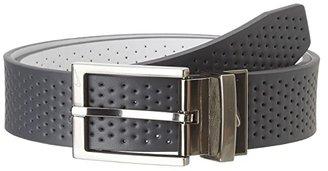 Nike Pin Dot Perf Reversible (Dark Grey/White) Men's Belts
