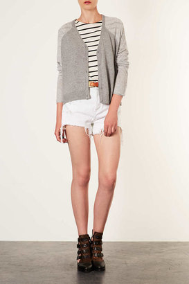 Topshop Knitted Sheer Solid Cardi