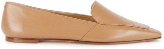 AEYDĒ Aurora Camel Leather Loafers